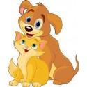 Sticker enfant Chien et chat 23x29cm réf 201