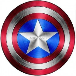 Stickers Bouclier Captain America Avengers 15076