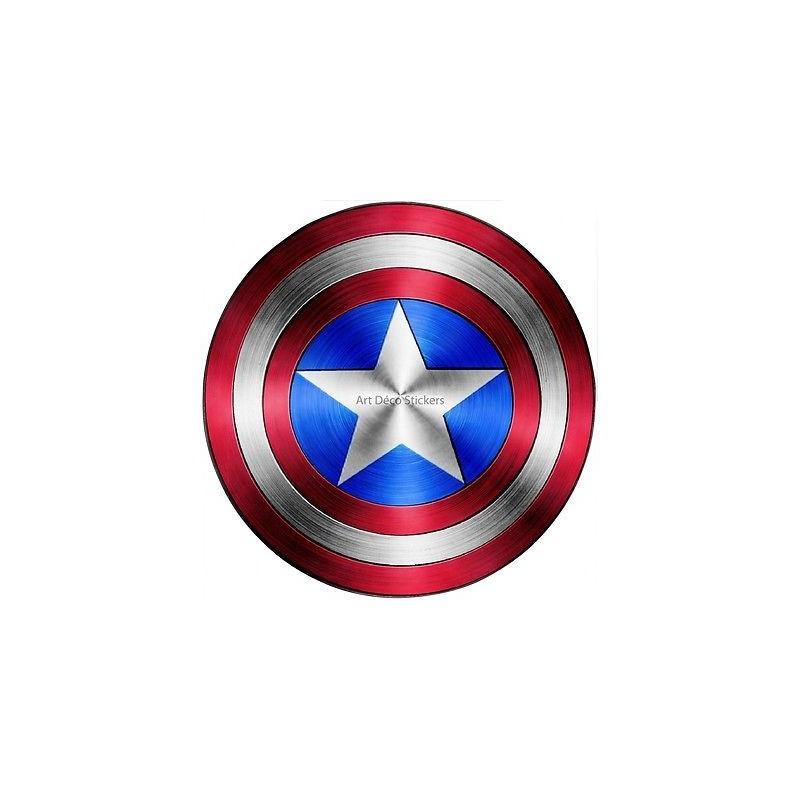 Stickers bouclier captain america avengers 15076 - Bouclier capitaine america ...