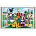 Sticker enfant fenêtre Mickey Minnie réf 1063