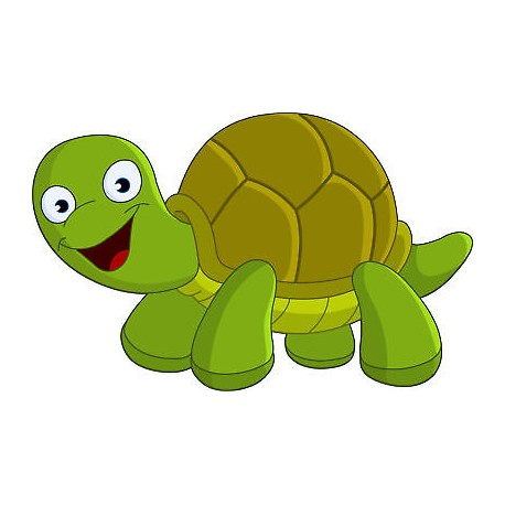 Sticker mural enfant Tortue