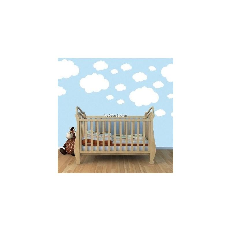 19 stickers autocollant nuages stickers muraux enfant for Autocolant mural