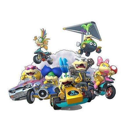 Stickers Mario Koopalings Super Mario réf 15067