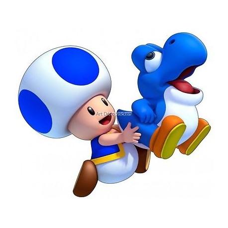 stickers autocollant Mario Yoshi Toad réf 15049