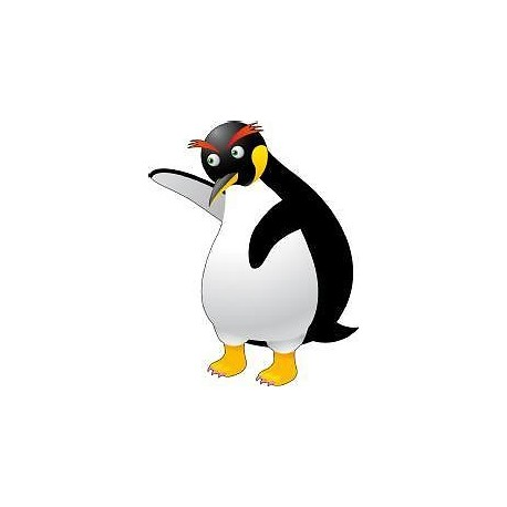 Sticker enfant bébé Pingouin hauteur 30cm réf 048