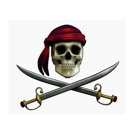 Sticker mural Pirate 110x90cm