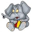 Sticker enfant Eléphanteau gris 29x30cm