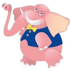 Sticker enfant bébé Eléphant hauteur 30cm réf 044