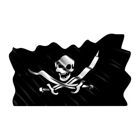 Sticker autocollant drapeau Pirate