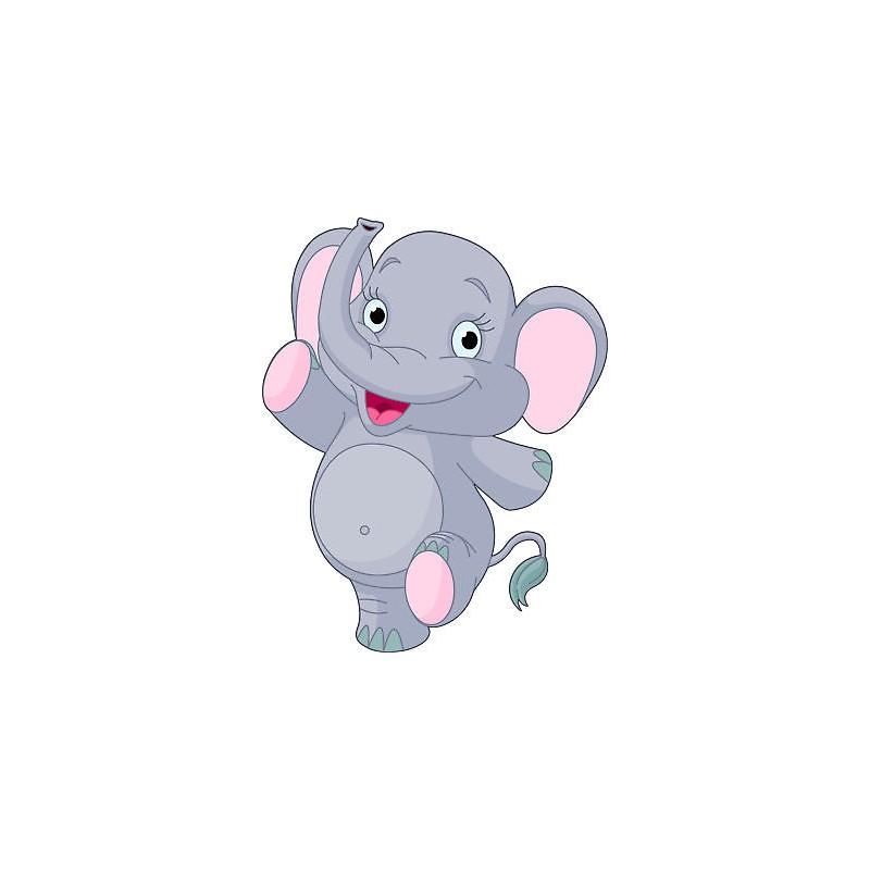 Sticker mural chambre d 39 enfant b b el phant r f 654 for Stickers elephant chambre bebe