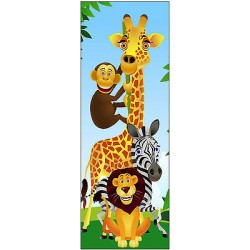 Sticker enfant animaux pour porte plane ou mural réf702
