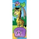 Sticker enfant animaux pour porte plane ou mural réf703