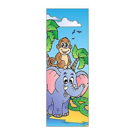 Sticker enfant animaux pour porte plane ou mural réf704