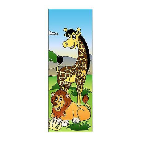 Sticker enfant Girafe pour porte plane ou mural réf 705