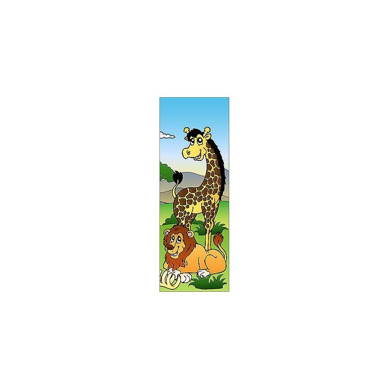 Sticker enfant girafe pour porte plane ou mural r f 705 for Decoration porte plane