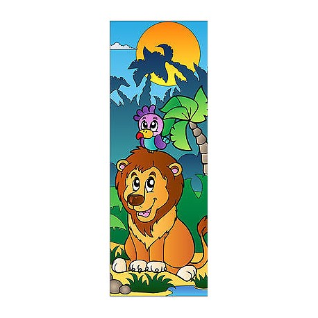 Sticker enfant Lion pour porte plane ou mural réf 706