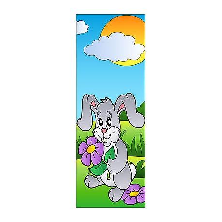 Sticker enfant Lapin pour porte plane ou mural réf 709