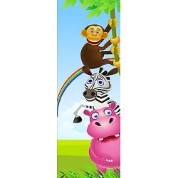 Sticker enfant Animaux porte plane ou mural réf 715