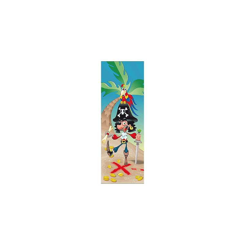 Sticker enfant pirate pour porte plane ou mural r f 712 for Decoration porte plane