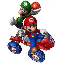 Sticker enfant Mario en voiture