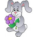 Sticker enfant lapin réf 815