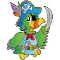 Sticker enfant Perroquet Pirate réf 820