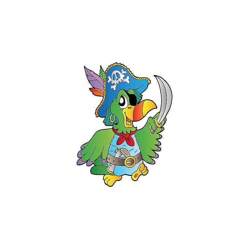 sticker enfant perroquet pirate rf 820