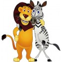 Sticker enfant Zébre Lion réf 824