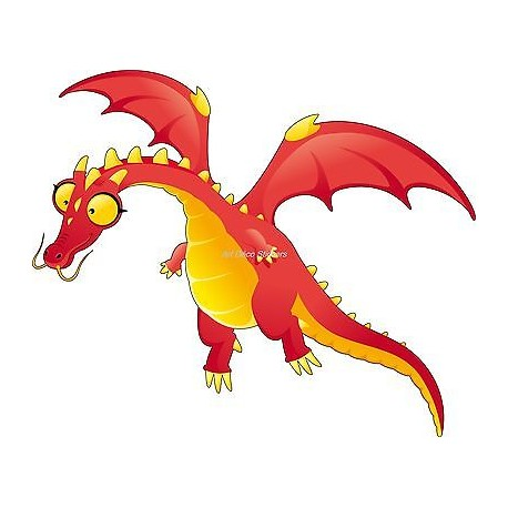 Sticker enfant Dragon réf 928 (Dimensions de 10 cm à 130 cm de largeur)