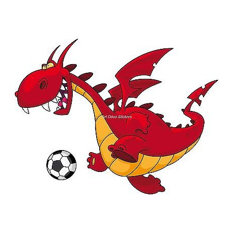 Sticker enfant Dragon réf 927 (Dimensions de 10 cm à 130 cm de largeur)