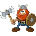 Sticker enfant Viking réf 926 (Dimensions de 10 cm à 130 cm de largeur)