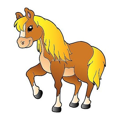 Sticker enfant Cheval réf 922 (Dimensions de 10 cm à 130 cm de largeur)