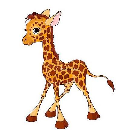 Sticker enfant Bébé Girafe réf 901(Dimensions de 10 cm à 130cm de hauteur)