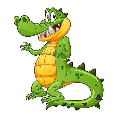 Sticker enfant Crocodile réf 921 (Dimensions de 10 cm à 130cm de hauteur)
