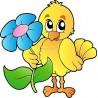Sticker enfant Oiseau réf 919 (Dimensions de 10 cm à 130cm de hauteur)
