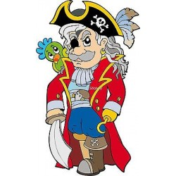 Sticker enfant Pirate réf 913 (Dimensions de 10 cm à 130cm de hauteur)