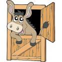 Sticker enfant Cheval Box réf 904 ( Dimensions de 10 cm à 130cm de hauteur)
