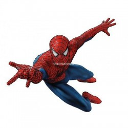 Sticker enfant Spiderman 58x50cm réf 9532
