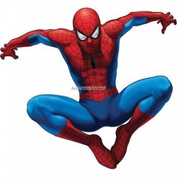 Sticker enfant Spiderman 67x61cm réf 9531