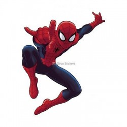 Sticker enfant Spiderman 24x30cm réf 9530