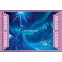 Sticker enfant fenêtre Frozen la reine des neiges réf 952