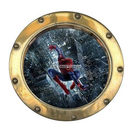 Sticker hublot enfant Spiderman réf 9556