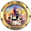 Sticker hublot enfant Les Pingouins de Madagascar réf 9552