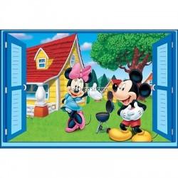 Sticker enfant fenêtre Fée Mickey et Minnie réf 949 949