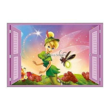 Sticker enfant fenêtre Fée Clochette réf 946 946