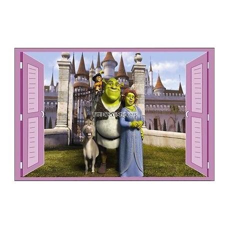 Sticker enfant fenêtre Shrek réf 943 943