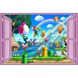 Sticker enfant fenêtre Mario réf 935