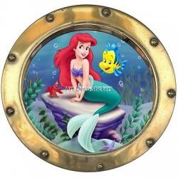 Sticker hublot enfant La Petite Sirène 9548