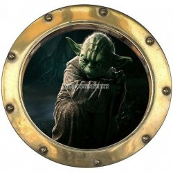 Sticker hublot enfant Stars Wars YODA 9547