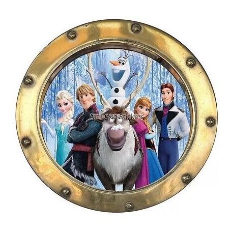 Sticker hublot enfant La Reine des Neiges 9544
